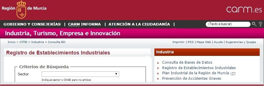 Registro Integrado Industrial de la Región de Murcia